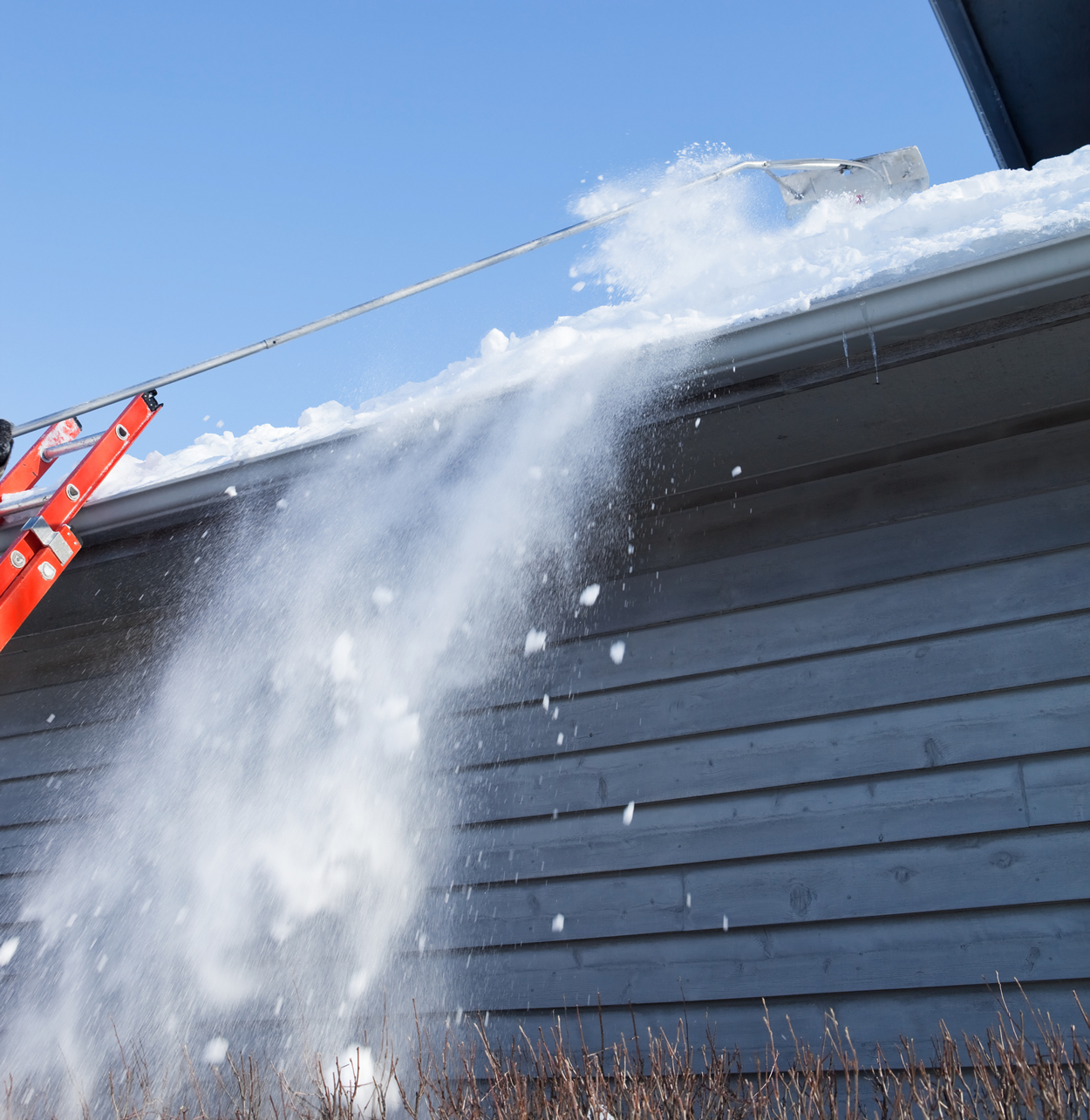 We can help with Ice Dams and Excess Snow on Roofs